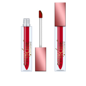 Pinkline Glossy Glam Matte Lip Gloss Combo of 6 Stylish,Lady Red,Soft Pink,Pink Party,Retro Red,Red Oxide, 36gm