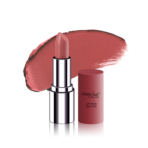 Pinkline MATTE Lipstick Light Maroon 4g