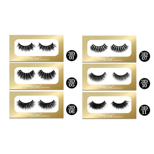 Pinkline 3D Eyelashes Pack of 6 (PL3D-01,05,06,07,10,11)