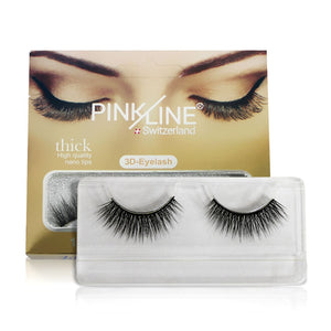 Pinkline 3D Eyelashes Pack of 3  (PL3D-07,10,11)