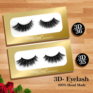Pinkline 3D Eyelashes Pack of 2 (PL3D-35,36)