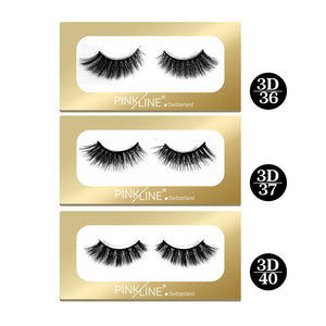 Pinkline 3D Eyelashes Pack of 3  (PL3D-36,37,40)