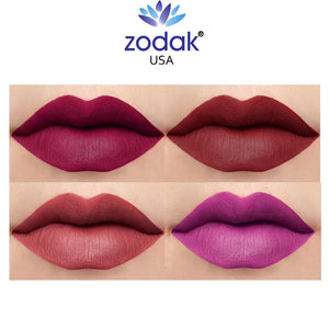 Zodak Like flaming diamonds  Matte Lipstick combo set of 4