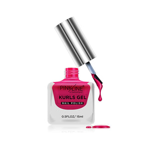 Pink Line Kurls Gel Matte Nail Polish Kurls 10 Candy Pink 15ml