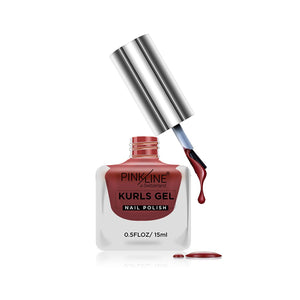 Pink Line Kurls Gel Matte Nail Polish Kurls 15 Cheek 15ml