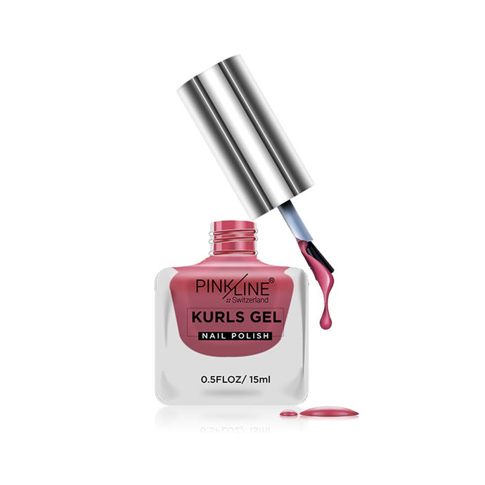Pink Line Kurls Gel Matte Nail Polish Kurls 17 Nude 15ml