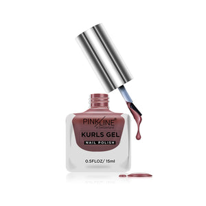 Pink Line Kurls Gel Matte Nail Polish Kurls 18 15ml