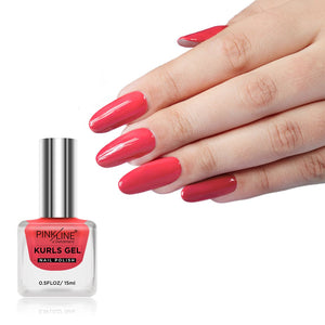 Pink Line Kurls Gel Matte Nail Polish Kurls 21 Atitude 15ml