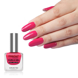 Pink Line Kurls Gel Matte Nail Polish Kurls 30 Dark Pink 15ml