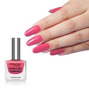 Pink Line Kurls Gel Matte Nail Polish Kurls 31 15ml