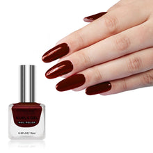 Load image into Gallery viewer, Pink Line Kurls Gel Matte Nail Polish Kurls 8 Solid Deep Red 15ml
