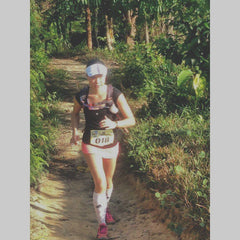 In pain, at Kemensah Krazy 45km April 2015 - my last race!