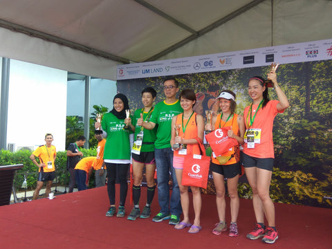 ashbenimble ceo hui mathews wins local trail race