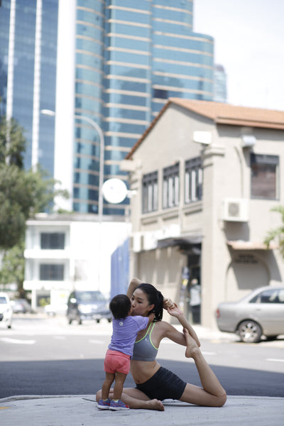 ash be nimble online sportswear brand founder hui mathews with baby asha - tatler malaysia feature