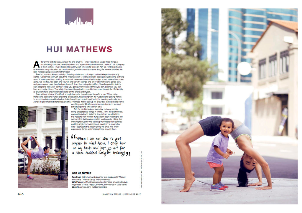 ash be nimble online sportswear brand founder hui mathews featured in malaysia tatler