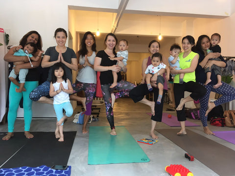 online sportswear brand ash be nimble does baby-friendly yoga classes
