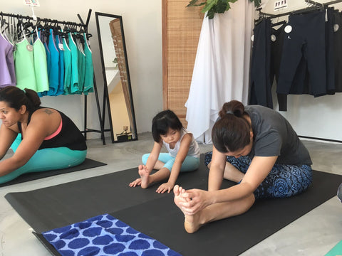 online sportswear brand ash be nimble hopes to inspire mums with our baby friendly yoga