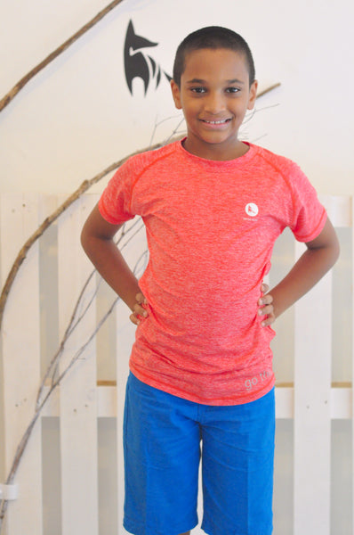 Kids Athletic Nimble Tee in Red