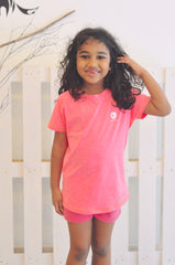 Kids Athletic Nimble Tee in Salmon