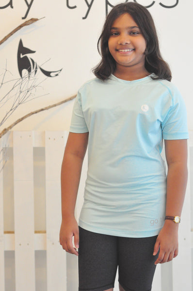 Kids Athletic Nimble Tee in Light Blue