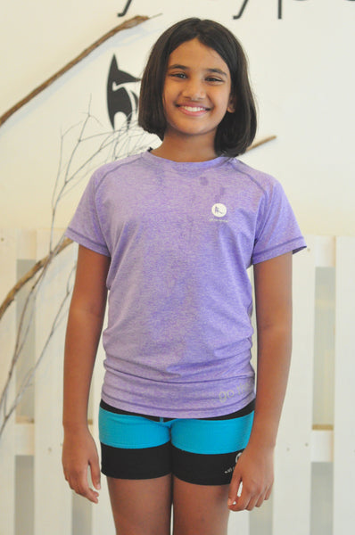 Kids Athletic Nimble Tee in Purple