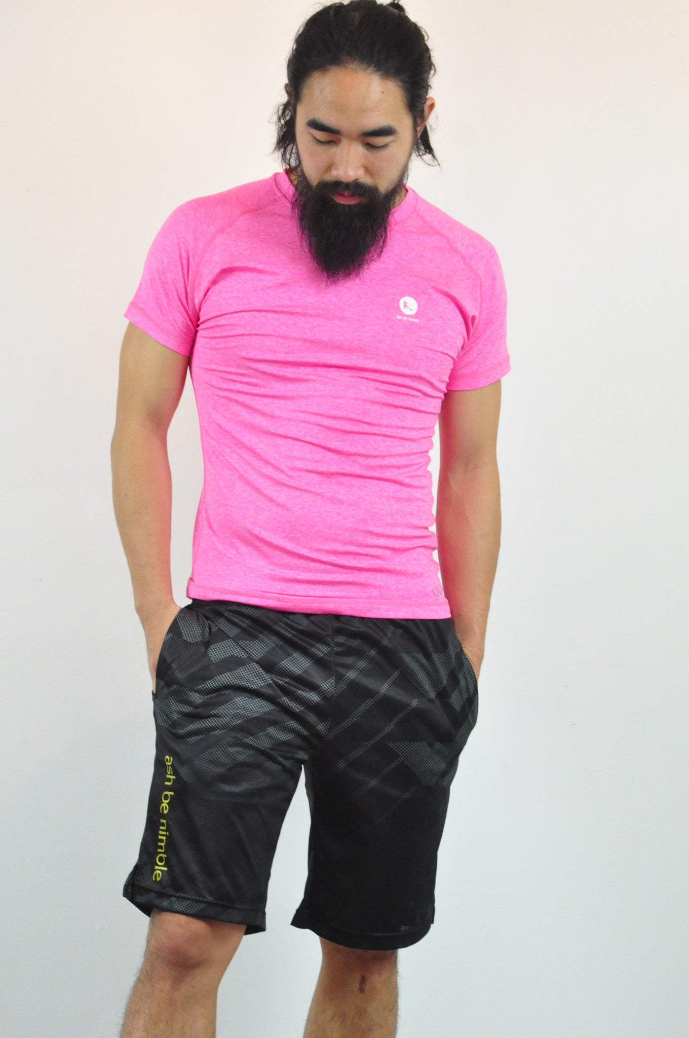 athletic nimble tee in pink