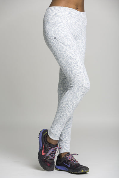 full length leggings - feathered grey