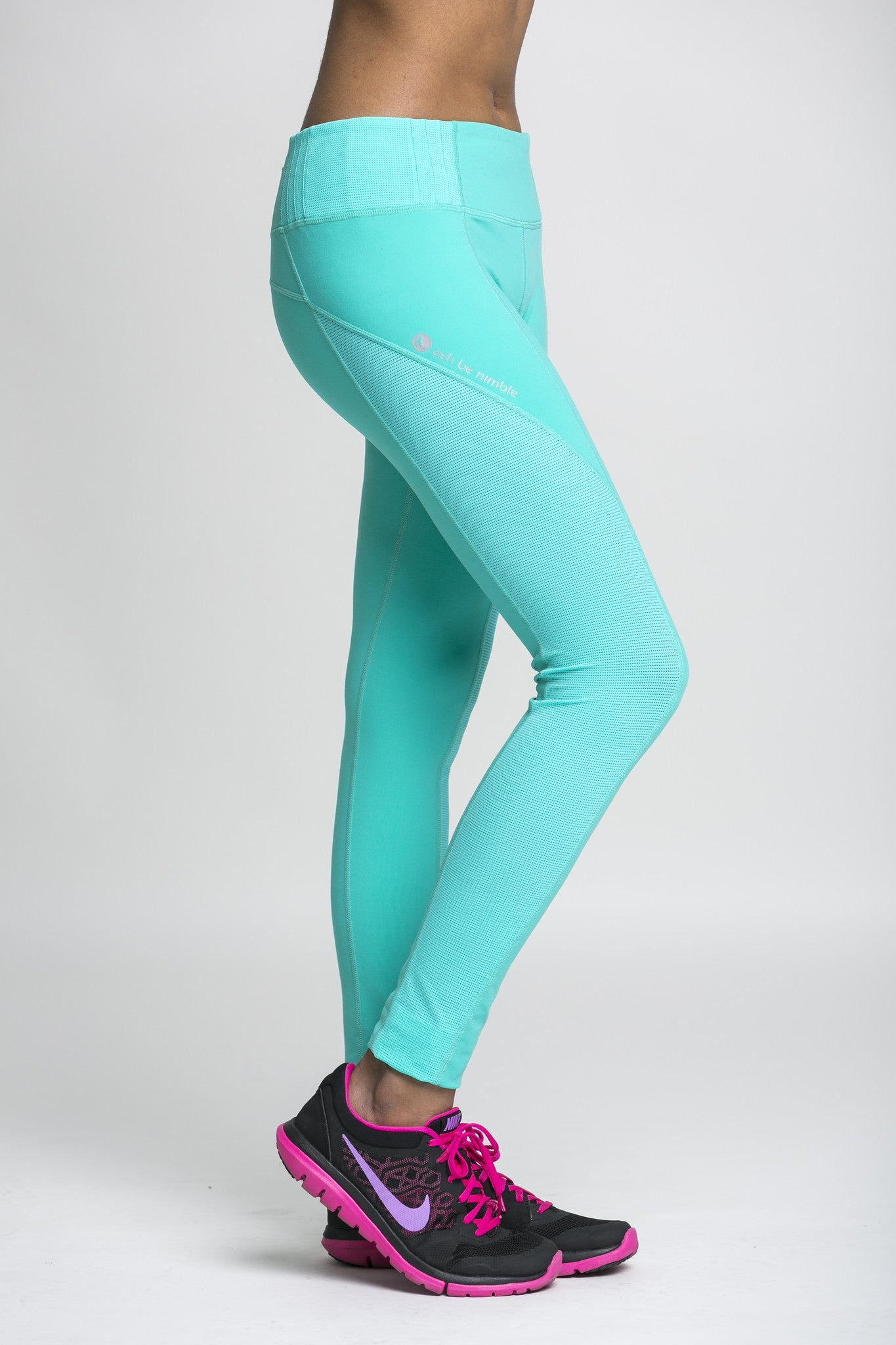 full length crops - teal & mesh
