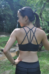amanda sports bra - gunmetal
