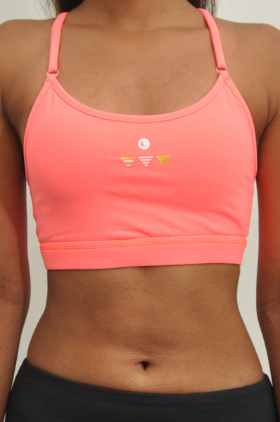 kids freedom adjustable low support sports bra - flamingo