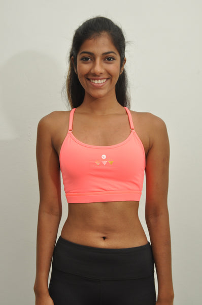 freedom adjustable low support sports bra - flamingo