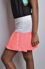 poppin' pleated skort - neon pink & white