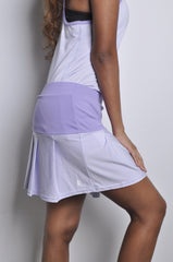 poppin' pleated skort - lovely in lilac