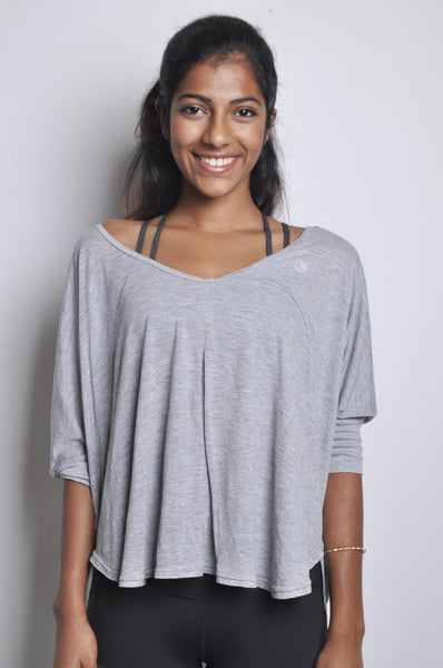 vera soft rayon top in grey