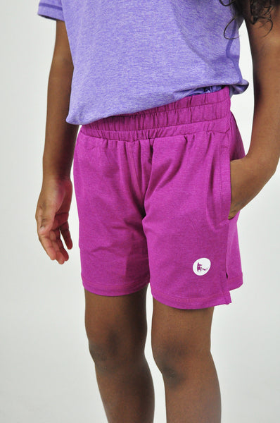 kid's avid shorts - fuschia