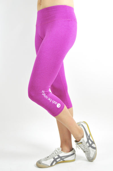 avid 3/4 leggings - fuschia