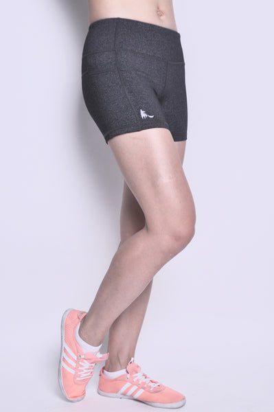 adeline running tight shorts - gunmetal grey
