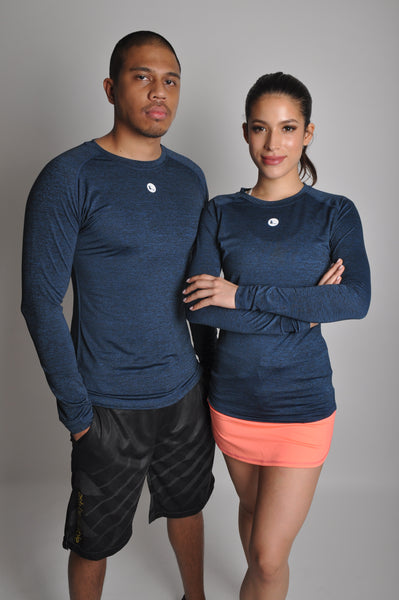 unisex nimble long sleeve top - midnight
