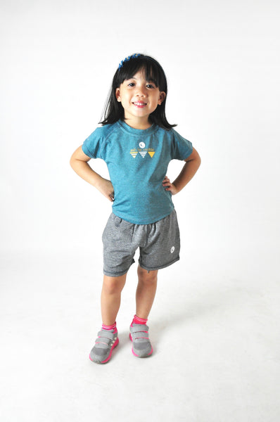 Kids Athletic Nimble Tee in Moonstone