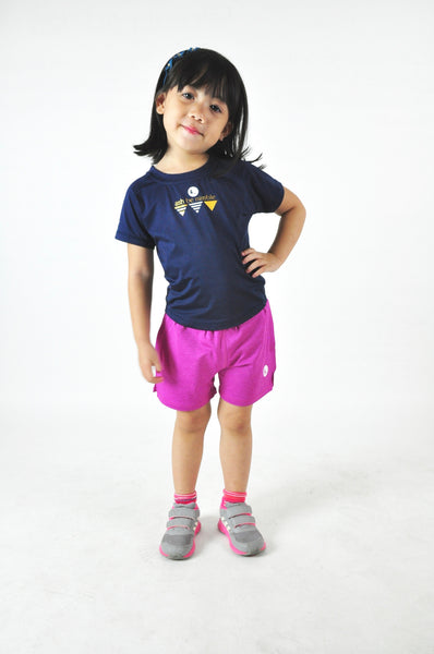 Kids Athletic Nimble Tee in Midnight