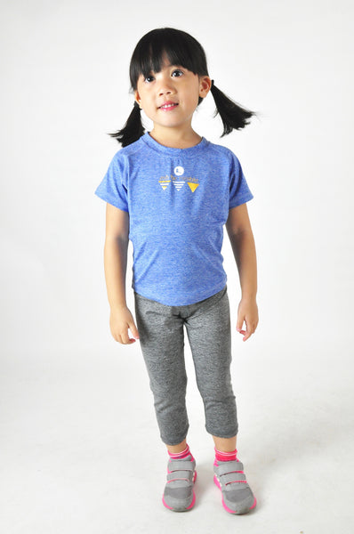 Kids Athletic Nimble Tee in Azurite