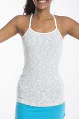 hooked on a feeling - support singlet in feathered grey