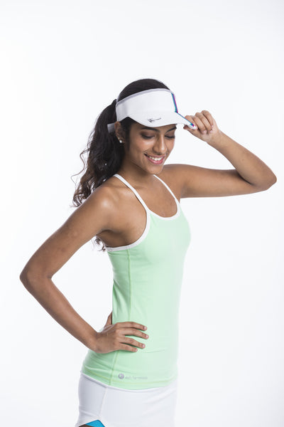 hooked on a feeling - support singlet in light mint & white