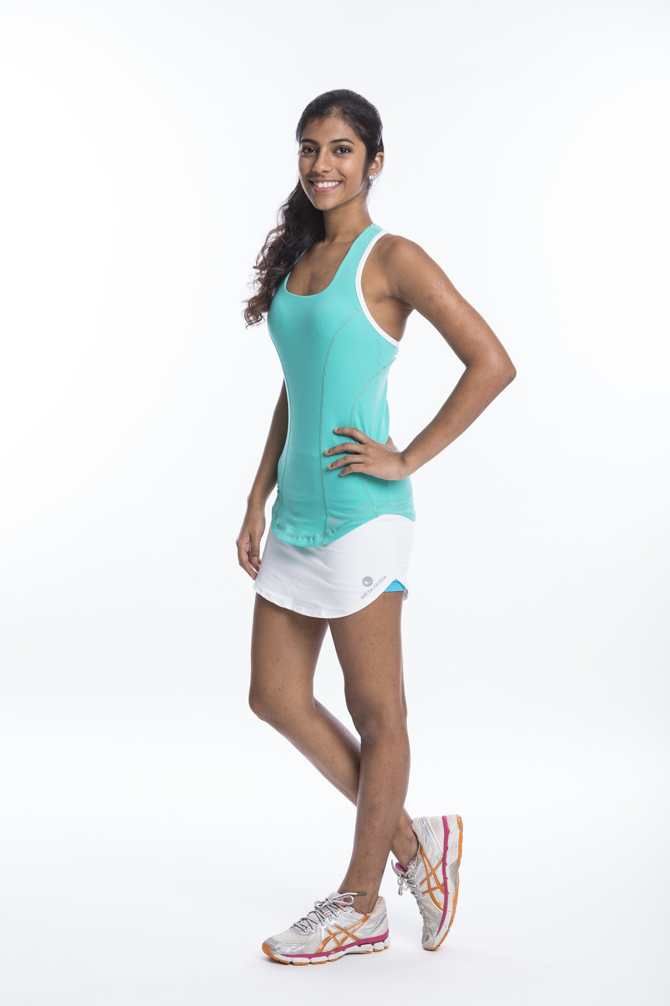 hit girl support singlet in mint green