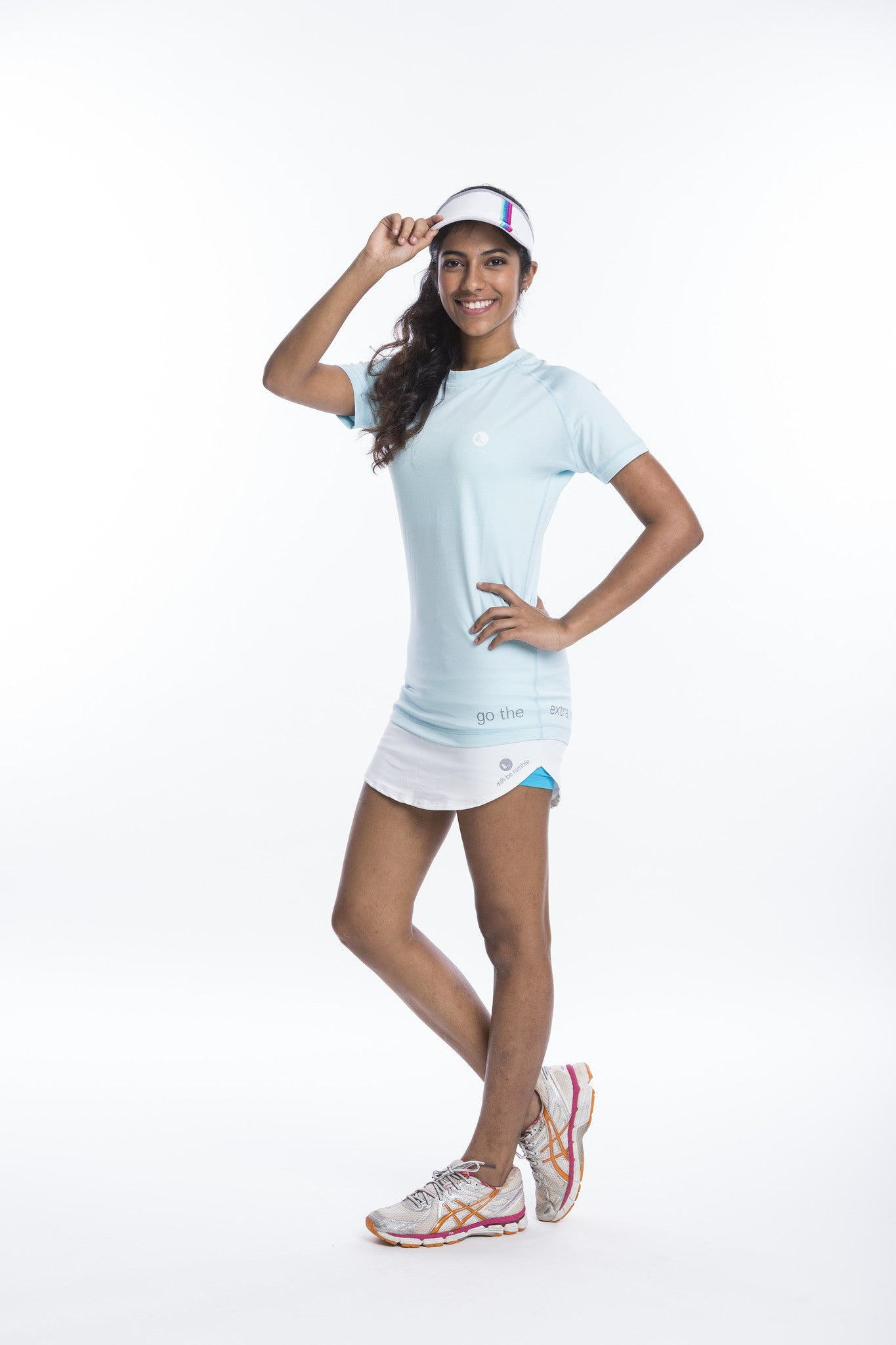 athletic nimble tee in light blue