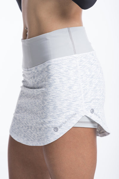 peekaboo skort - feathered grey