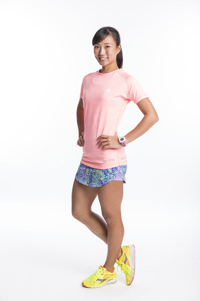 athletic nimble tee in salmon