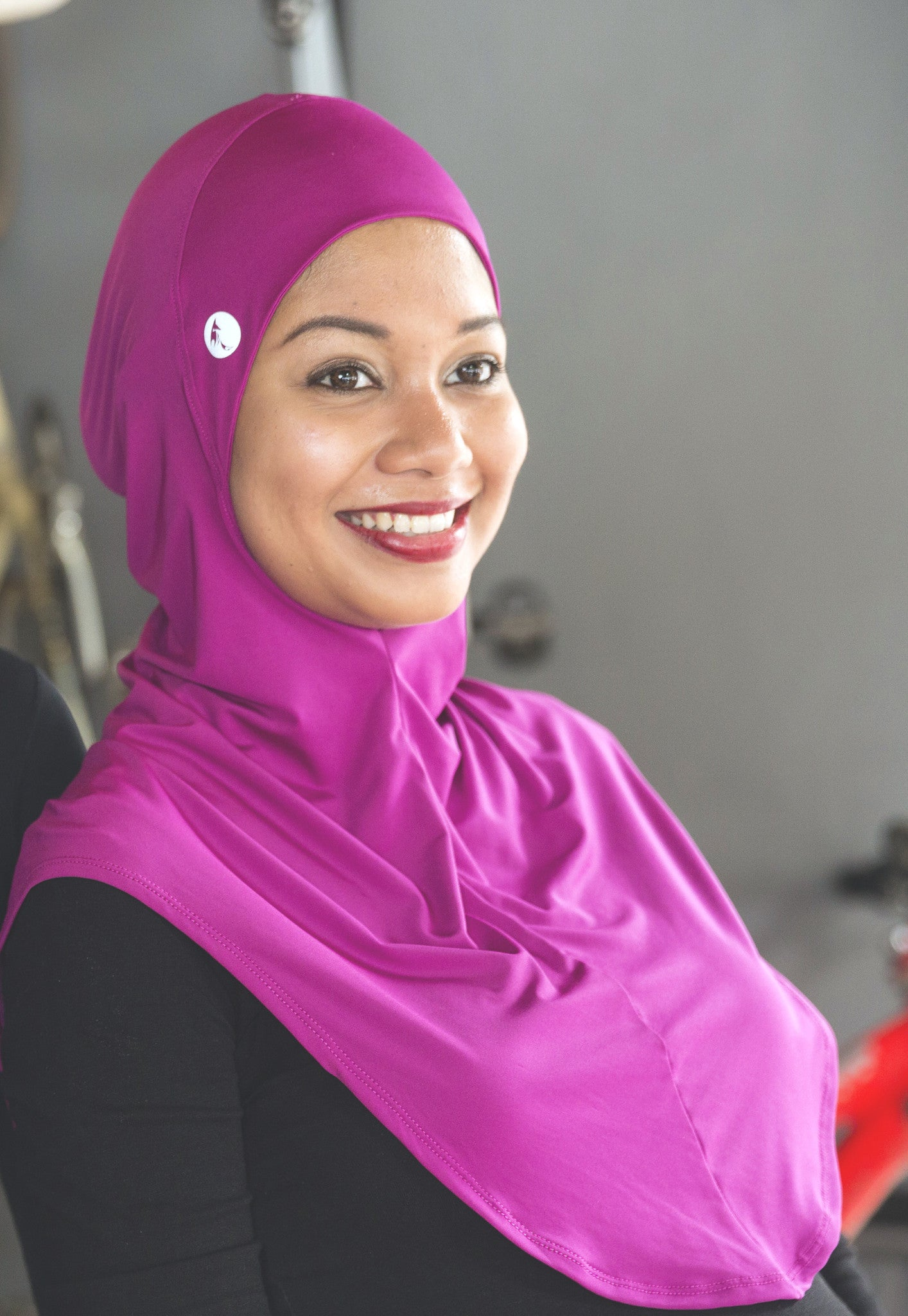 sports hijab - poise in fuschia