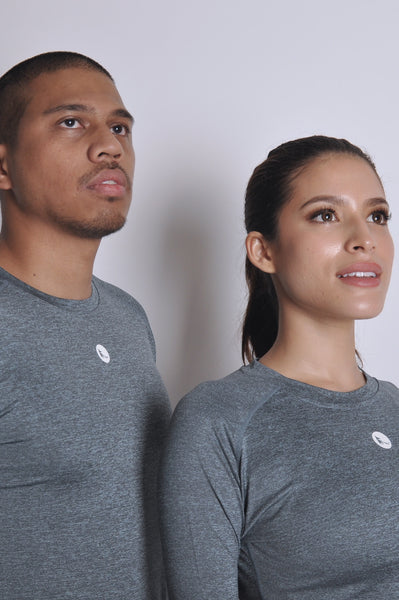 unisex nimble long sleeve top - moonstone