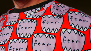 Sweatshirt: Mouth Of Fear All-Over Print (Red) - Benbo Global Megastore
